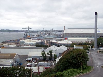 HMNB Devon Port in Plymouth