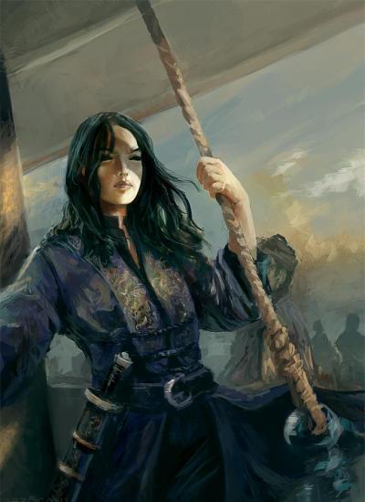 La famosa Cheng I Sao oteando el horizonte desde su barco