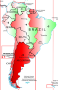 South America little map showing civil and solar times differences